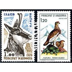 [24] 1979 French Andorra Sc 267/268 Mammals and Birds  ** MNH Very Nice  (Scott)
