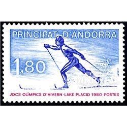 [24] 1980 French Andorra Sc  Lake Placid Olympics  ** MNH Very Nice  (Scott)