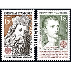 [24] 1980 French Andorra Sc  Europe CEPT  ** MNH Very Nice  (Scott)