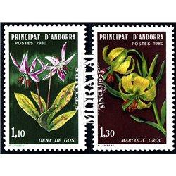 [24] 1980 French Andorra Sc  flowers  ** MNH Very Nice  (Scott)