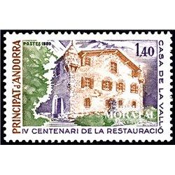 [24] 1980 French Andorra Sc  Maison des Vallées  ** MNH Very Nice  (Scott)