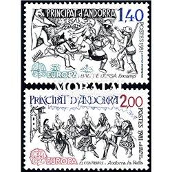 [24] 1981 French Andorra Sc  Europe CEPT  ** MNH Very Nice  (Scott)