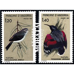 [24] 1981 French Andorra Sc  Birds  ** MNH Very Nice  (Scott)