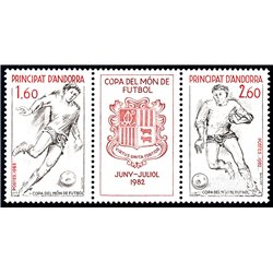 [24] 1982 French Andorra Sc  Football Championship  ** MNH Very Nice  (Scott)