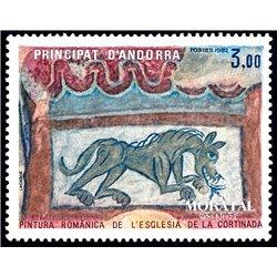 [24] 1982 French Andorra Sc  Romanica Cortinada Church  ** MNH Very Nice  (Scott)