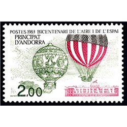 [24] 1983 French Andorra Sc  Balloons  ** MNH Very Nice  (Scott)