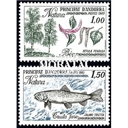 [24] 1983 French Andorra Sc  Flora and fauna  ** MNH Very Nice  (Scott)