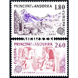 [24] 1983 French Andorra Sc  Europe CEPT  ** MNH Very Nice  (Scott)