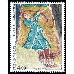 [24] 1983 French Andorra Sc  Romanica Cortinada Church  ** MNH Very Nice  (Scott)