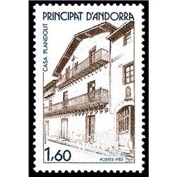 [24] 1983 French Andorra Sc  Plandolit House  ** MNH Very Nice  (Scott)