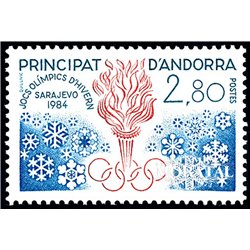 [24] 1984 French Andorra Sc  Sarajevo Olympics  ** MNH Very Nice  (Scott)
