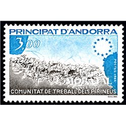 [24] 1984 French Andorra Sc  Pyrenees Work Community  ** MNH Very Nice  (Scott)