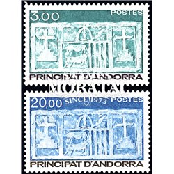 [24] 1984 French Andorra Sc  Primitive Ecu of the Valleys  ** MNH Very Nice  (Scott)