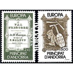 [24] 1985 French Andorra Sc  Europe CEPT  ** MNH Very Nice  (Scott)