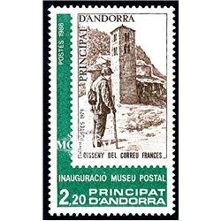 [24] 1986 French Andorra Sc 343 Postal Museum  ** MNH Very Nice  (Scott)