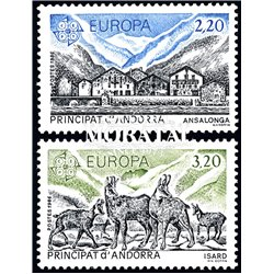 [24] 1986 French Andorra Sc 344/345 Europe CEPT  ** MNH Very Nice  (Scott)