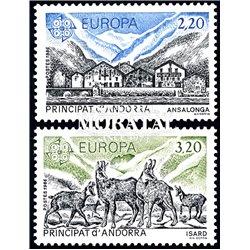 [24] 1986 French Andorra Sc 344/345 Europe CEPT  ** MNH Very Nice  (Scott)