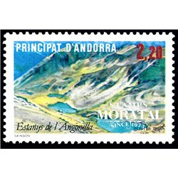 [24] 1986 French Andorra Sc  Lake of Angonella  ** MNH Very Nice  (Scott)