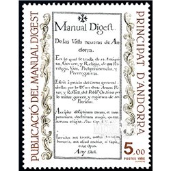 [24] 1986 French Andorra Sc  Digest Manual  ** MNH Very Nice  (Scott)