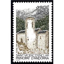 [24] 1986 French Andorra Sc  Saint-Vicenc d'Enclar  ** MNH Very Nice  (Scott)