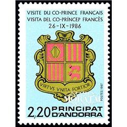 [24] 1987 French Andorra Sc  Co-princes  ** MNH Very Nice  (Scott)
