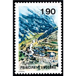 [24] 1987 French Andorra Sc  Population of Ransol  ** MNH Very Nice  (Scott)