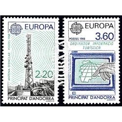 [24] 1988 French Andorra Sc  Europe CEPT  ** MNH Very Nice  (Scott)