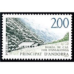 "[24] 1988 French Andorra Sc  ""Tor d'Ansalonga""  ** MNH Very Nice  (Scott)"