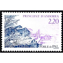 [24] 1989 French Andorra Sc  Pal population  ** MNH Very Nice  (Scott)