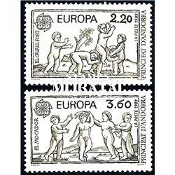 [24] 1989 French Andorra Sc  Europe CEPT  ** MNH Very Nice  (Scott)