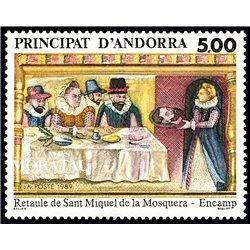 [24] 1989 French Andorra Sc  San Miguel de la Mosquera  ** MNH Very Nice  (Scott)