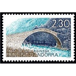 [24] 1990 French Andorra Sc  Margineda Bridge  ** MNH Very Nice  (Scott)