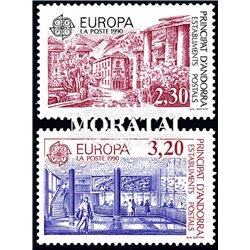[24] 1990 French Andorra Sc  Europe CEPT  ** MNH Very Nice  (Scott)