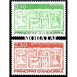 [24] 1990 French Andorra Sc  Primitive Ecu of the Valleys  ** MNH Very Nice  (Scott)