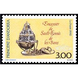 [24] 1990 French Andorra Sc  Sant Roma de les Bons  ** MNH Very Nice  (Scott)