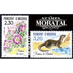 [24] 1990 French Andorra Sc  Otter  ** MNH Very Nice  (Scott)