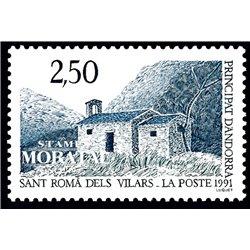 [24] 1991 French Andorra Sc  Chapel of Sant Roma  ** MNH Very Nice  (Scott)