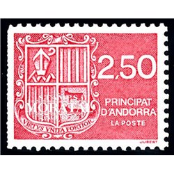 [24] 1991 French Andorra Sc  Andorra coat of arms  ** MNH Very Nice  (Scott)