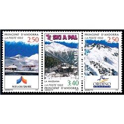 [24] 1993 French Andorra Sc  Pas de la Casa, Ordina, La Massana  ** MNH Very Nice  (Scott)
