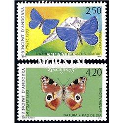 [24] 1993 French Andorra Sc  Butterflies  ** MNH Very Nice  (Scott)