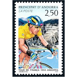 [24] 1993 French Andorra Sc  Cycling. Tour de France  ** MNH Very Nice  (Scott)
