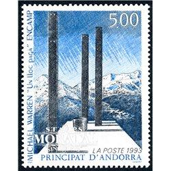 [24] 1993 French Andorra Sc  Michael Warren  ** MNH Very Nice  (Scott)