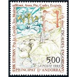 [24] 1993 French Andorra Sc  Erik Dietman  ** MNH Very Nice  (Scott)