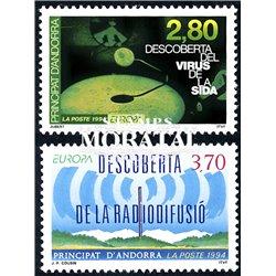 [24] 1994 French Andorra Sc  Europe CEPT  ** MNH Very Nice  (Scott)