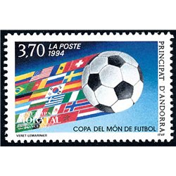 [24] 1994 French Andorra Sc  Football cup  ** MNH Very Nice  (Scott)