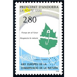 [24] 1995 French Andorra Sc  Nature conservation  ** MNH Very Nice  (Scott)