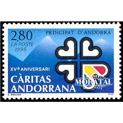 [24] 1995 French Andorra Sc  Smilies  ** MNH Very Nice  (Scott)