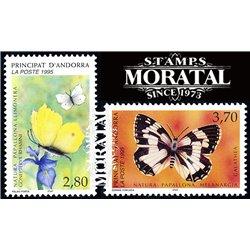 [24] 1995 French Andorra Sc  Butterflies  ** MNH Very Nice  (Scott)