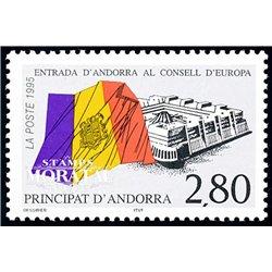 [24] 1995 French Andorra Sc  European Council  ** MNH Very Nice  (Scott)