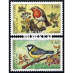 [24] 1996 French Andorra Sc  Birds  ** MNH Very Nice  (Scott)
